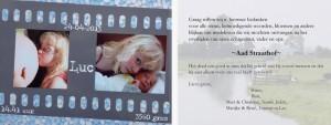 Geboorte- en rouwkaarten