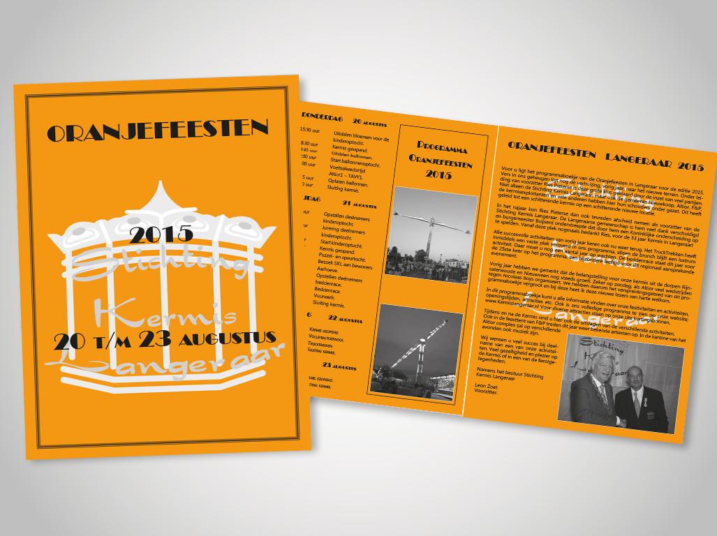 Kermis Langeraar 2015 brochure