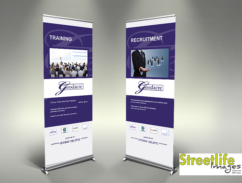 Goodacre pull-up banner
