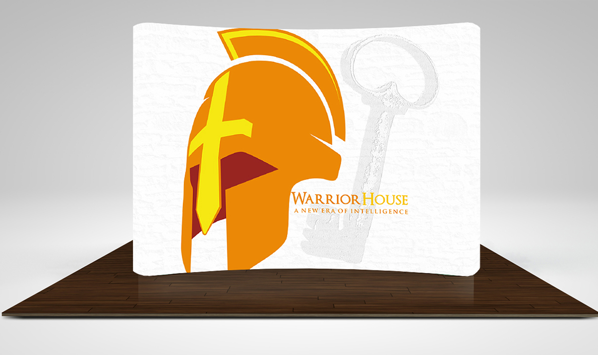 Warrior House backdrop