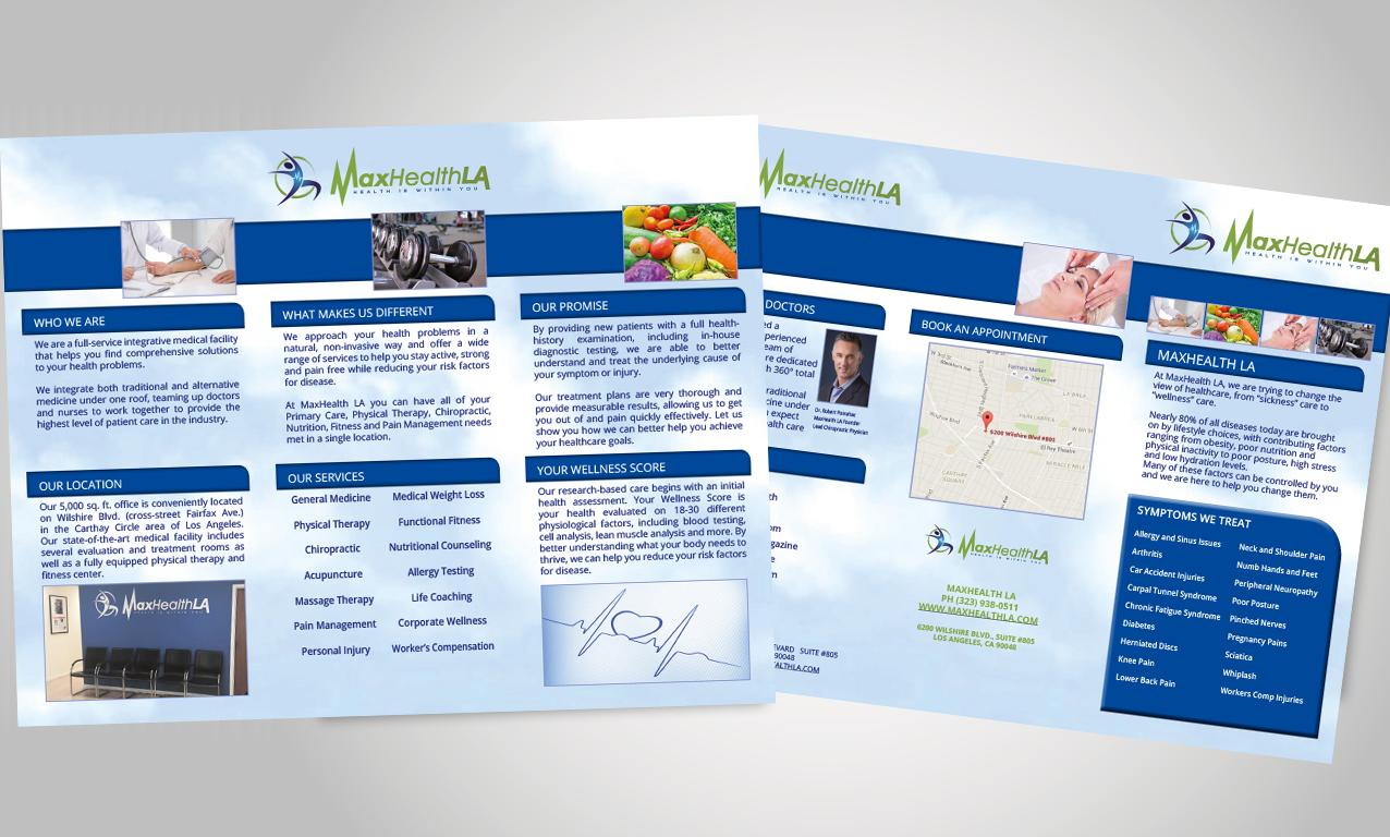 MaxHealthLA trifold brochure