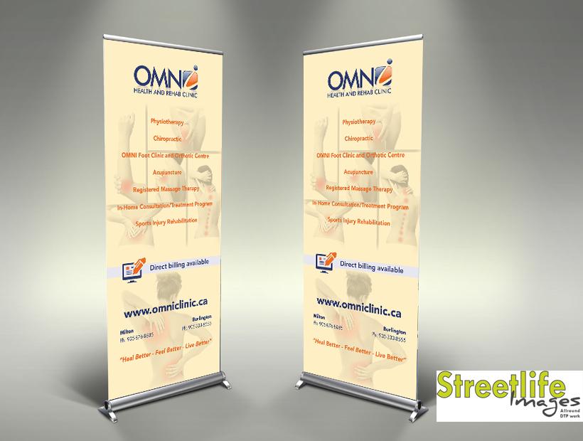 Omni Chiro pull-up banner